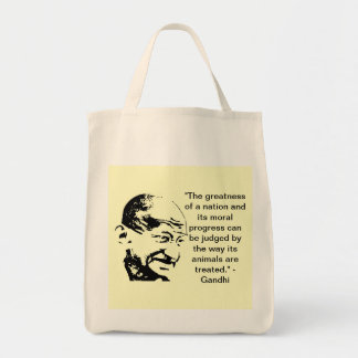 """Gandhi Quote"" Organic Grocery Tote"