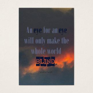 Gandhi Quote - Peace Activist, Organization Business Card