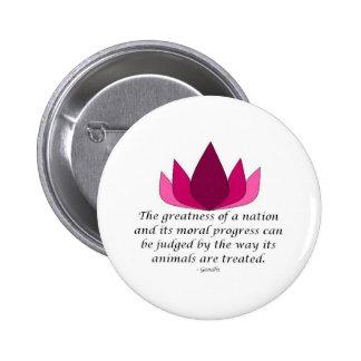 Gandhi Quote Pinback Button