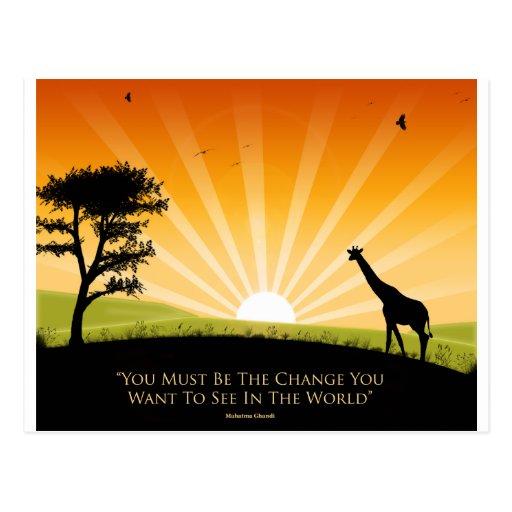 Gandhi Quote Post Card