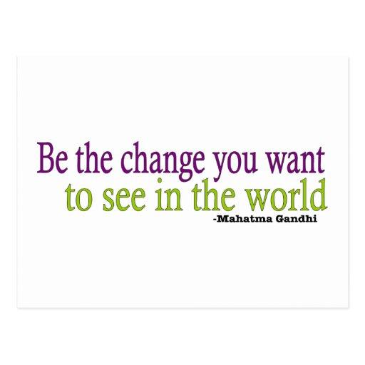 Gandhi Quote Postcard