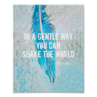 Gandhi quote poster motivational text on photo art
