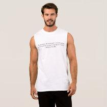 Gandhi Quote Sleeveless Shirt