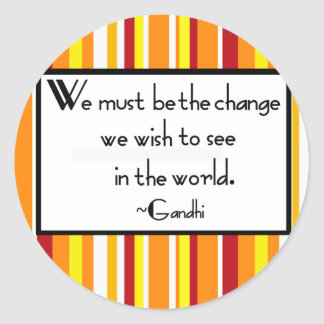 Gandhi Quote Stickers