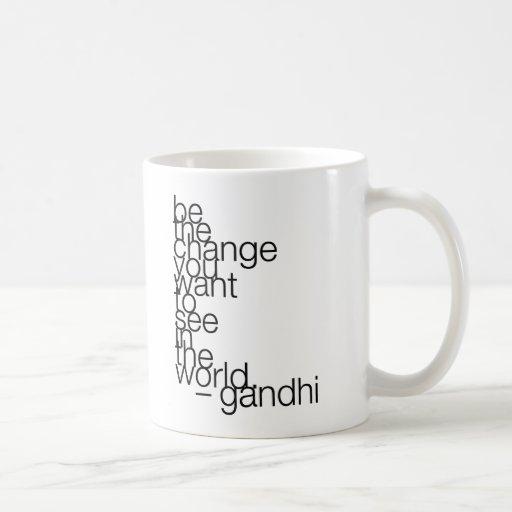 gandhi-quote-stiles* classic white coffee mug
