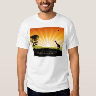 Gandhi Quote T Shirt