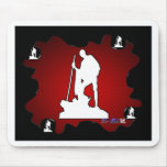 GANDHI RED BACKGROUND PRODUCTS MOUSEPAD