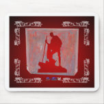 GANDHI RED CUSTOMIZABLE PRODUCTS MOUSE PAD