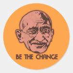Gandhi sea el cambio etiquetas