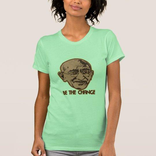 Gandhi sea el cambio playera