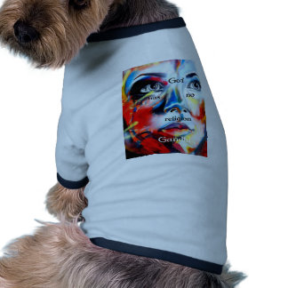 Gandhi Spiritual Quotation God Has No Religion Pet Clothing