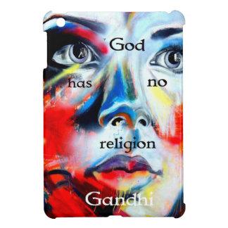 Gandhi Spiritual Quotation God Has No Religion iPad Mini Covers