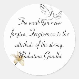 Gandhi Sticker of Forgiveness