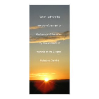 Gandhi Sunset Quote Book Mark Rack Card