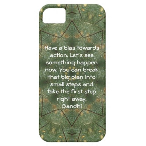 Gandhi Wisdom Quotation Saying about Action iPhone 5 Covers