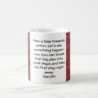Gandhi Wisdom Quotation Saying about Action Coffee Mug