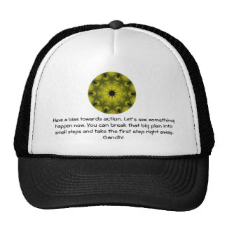 Gandhi Wisdom Quotation Saying about Action Trucker Hat