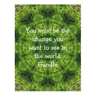 Gandhi Wisdom Quotation Saying Postcard
