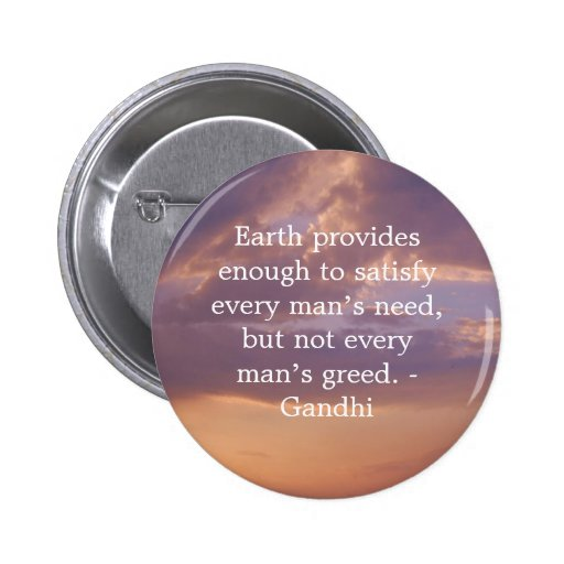 Gandhi Wisdom Quote With Brown Sky Pins