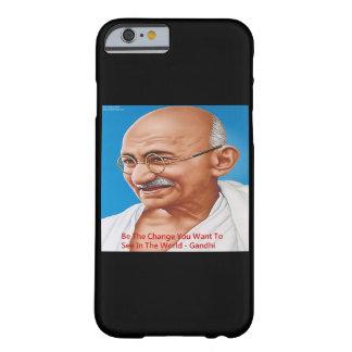 Gandhi y sea el caso del iPhone 6 de la cita del Funda Barely There iPhone 6