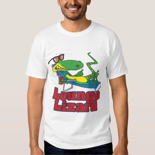 gandulear el dibujo animado del lagarto de salón poleras
