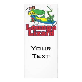 gandulear el dibujo animado del lagarto de salón tarjetas publicitarias