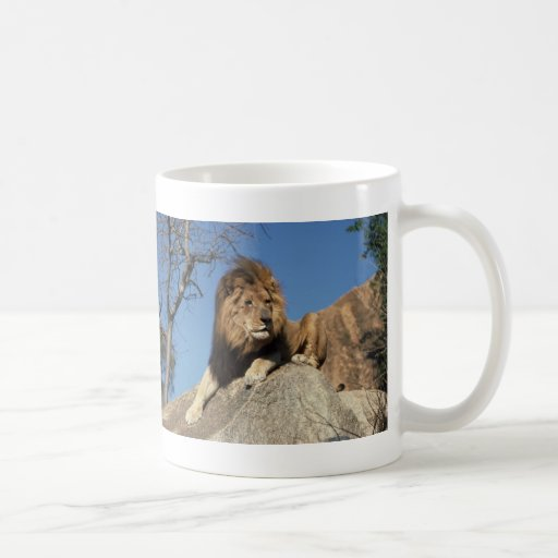 Gandulear el león taza de café