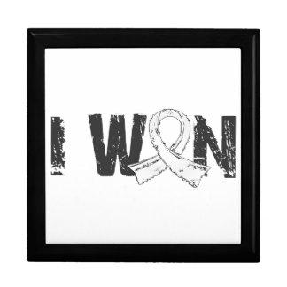 Gané el cáncer de pulmón caja de recuerdo