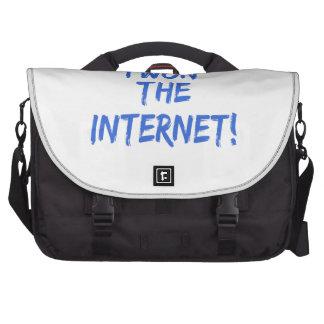 Gané el Internet - elija el color de fondo Bolsas De Portátil