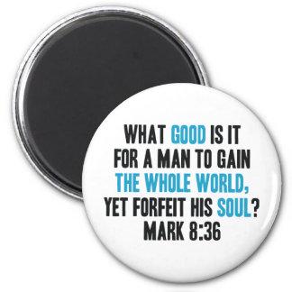 Gane el mundo entero con todo pierda su alma. Marc Imanes Para Frigoríficos