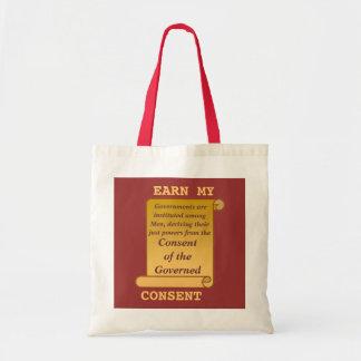 Gane la mi bolsa de asas del consentimiento