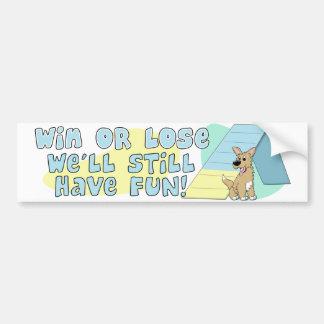 Gane o pierda a la pegatina para el parachoques de pegatina para auto