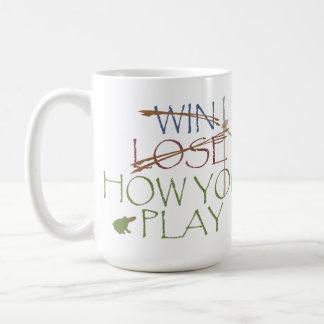 Gane/pierda/cómo usted juega tazas de café