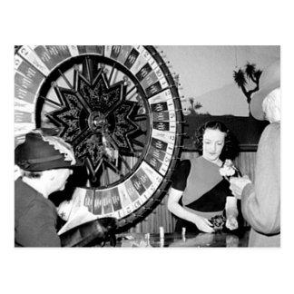 Gane un casino de Las Vegas del vintage de la fort Postales