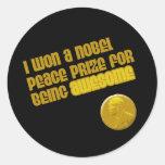 Gané un Premio Nobel de la Paz Para ser Pegatina Redonda