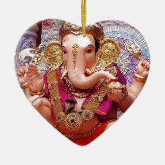 Ganesh (गणेश)  - Indian Elephant Deity Ceramic Ornament