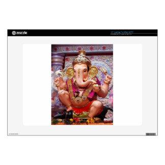 "Ganesh (गणेश)  - Indian Elephant Deity Decal For 15"" Laptop"