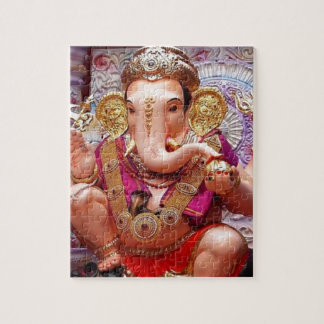 Ganesh (गणेश)  - Indian Elephant Deity Jigsaw Puzzle
