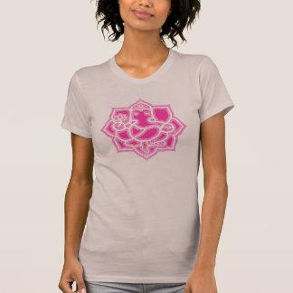 Ganesh and lotus - ladies T-Shirt
