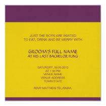 Ganesh Bachelor Party Invitation