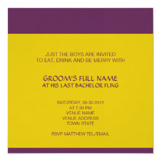 "Ganesh Bachelor Party Invitation 5.25"" Square Invitation Card"