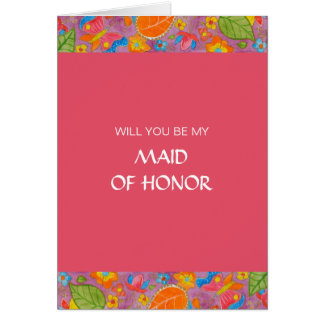 Ganesh Be My Maid Of Honor Card