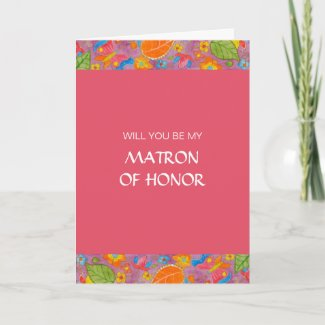 Ganesh Be My Matron Of Honor Card card