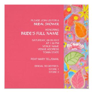 "Ganesh Bridal Shower Invitation 5.25"" Square Invitation Card"
