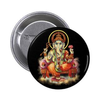 Ganesh 2 Inch Round Button