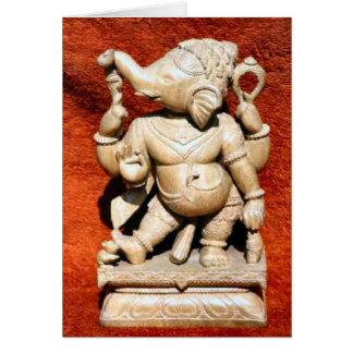 Ganesh Carving Card