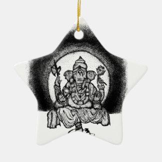 ganesh ceramic ornament