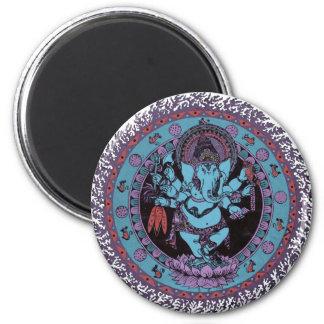 Ganesh Dancer 2 Inch Round Magnet