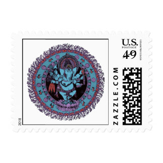 Ganesh Dancer Postage Stamp