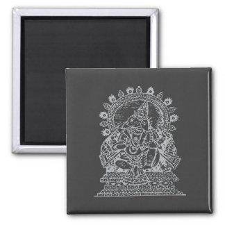 Ganesh: Dios del éxito (plata) Iman De Frigorífico